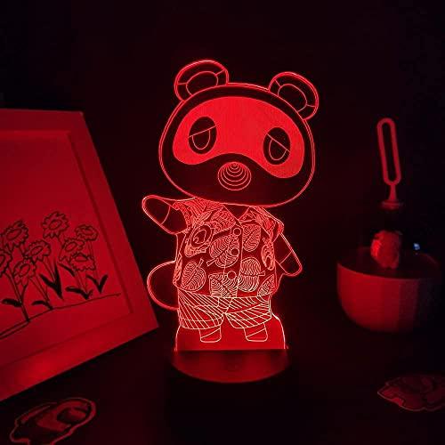 Luz nocturna 3D para niños, figura de animal, 3D, luces LED RGB, regalos geniales para amigos, dormitorio, escritorio de mesa, decoración multicolor, 16 colores se pueden controlar a distancia.