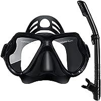 Aothing Anti-Fog Tempered Glass Snorkel Mask Set