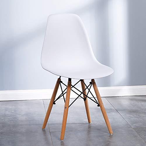 KaminHome - (Pack 4 Unidades) Silla de Comedor salón Dormitorio Descanso ergonómica Metal Pata Madera Estilo escandinava nórdica Moderna Minimalista