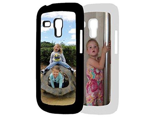 PixiPrints Handyhülle aus Kunststoff selbst gestalten * eigenes Foto * Schutz mit eigenem Bild, Farbe:Schwarz, Kompatibel mit Samsung Galaxy S3 Mini