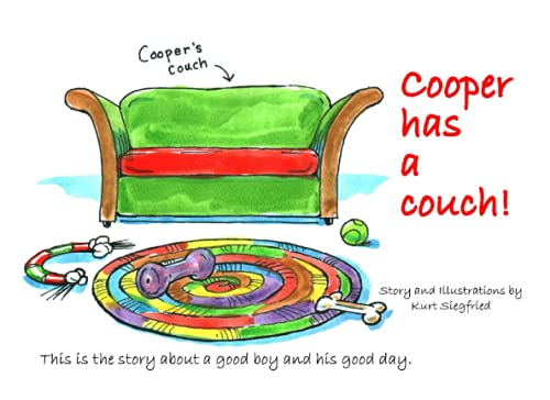 Cooper has a couch!