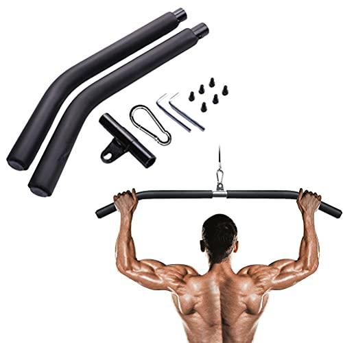 YsaAsaa Barra de bíceps desmontable, palanca de tensión de espalda, barra de tracción, dispositivo de entrenamiento de espalda para casa, fitness, gimnasio, culturismo