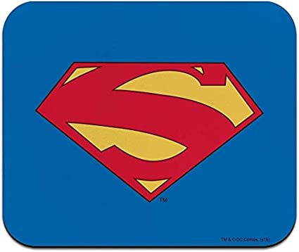 Alfombrilla de ratón fina de perfil bajo con logotipo de Superman 52 Shield