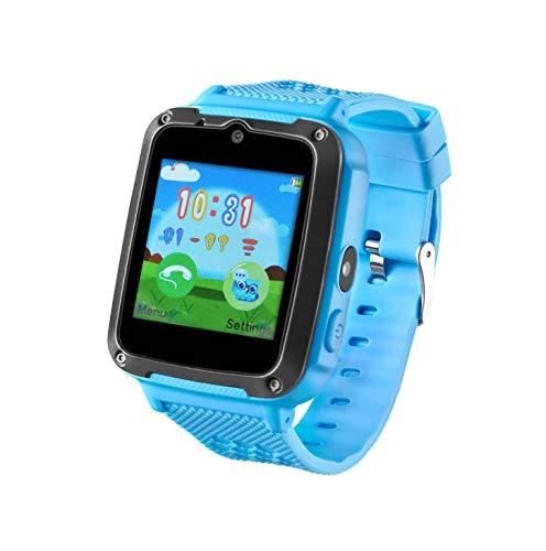 Inovalley - Reloj inteligente multifunción Android e iOS con tarjeta SIM para todos los operadores MCKID azul