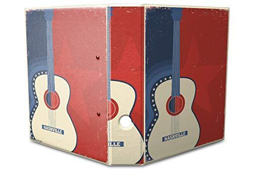 LEotiE SINCE 2004 Motiv Akten Ordner Bedruckt 60mm DIN A4 Gitarre