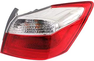 Tail Light Assembly Compatible with 2013-2015 Honda Accord Outer EX/LX/Sport Models Sedan Passenger Side