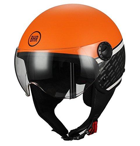 BHR 68582 Casco Moto Demi-Jet Linea One 801, Orange, XS