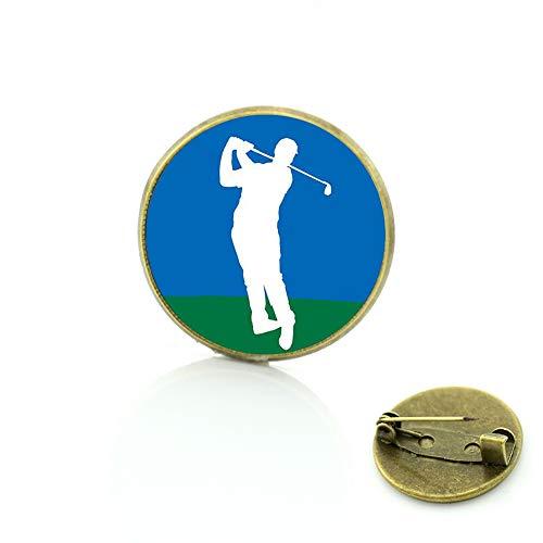 I Love Golf Broschen Pins Herren Damen Golfspieler Schmuck Brosche Casual Sport Badge Pin Club Geschenke