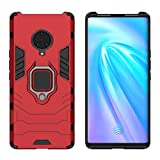 YEESOON Case for Vivo NEX 3, Dual Layer Hybrid Shockproof Protective Case with Ring Stand & Magnetic Car Mount Function Back Cover for Vivo NEX 3 - Red