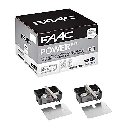 Faac Power - Kit de automatización electromecánica, 2 activadores, 770N, motor enterrado,...