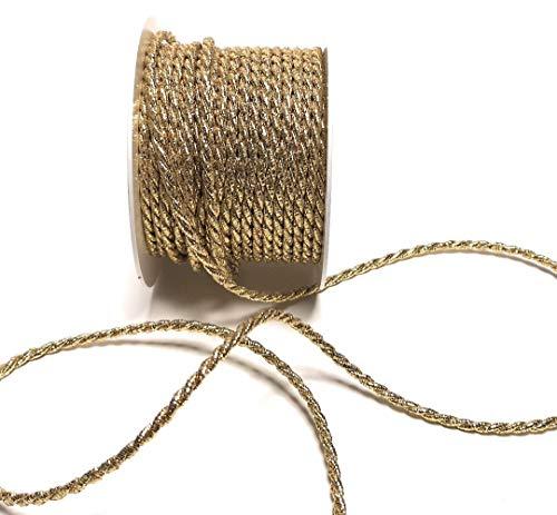 Kordel 15m x 4mm Gold Drehkordel KORDELBAND Dekoband SCHLEIFENBAND Schnur