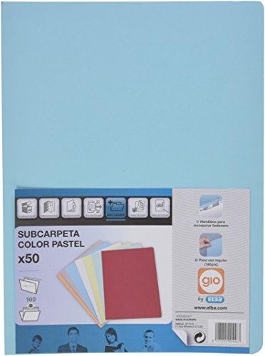 ELBA 400040507 - Paquete de 50 subcarpetas A4 180 g, color azul