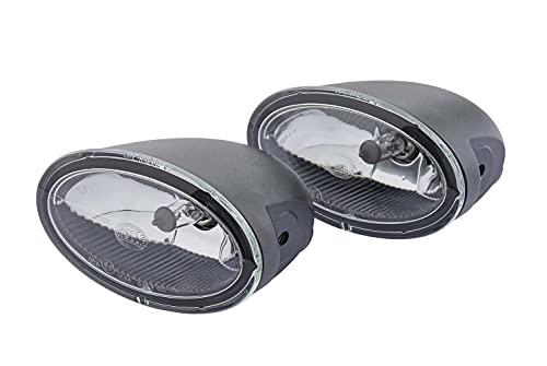HELLA 1NA 008 283-801 FF/Halogène-Kit de projecteurs antibrouillard - FF 50 - 12V - ovale - Montage en saillie - Couleur du voyant: limpide - gauche/droite - Kit - Quantité: 2