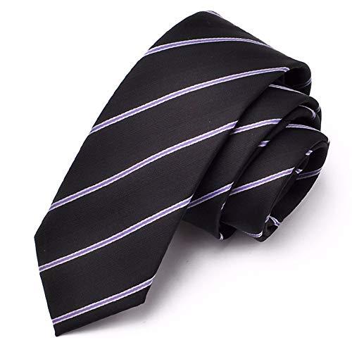 WUNDEPYTIE Krawatte Männer Casual Koreanische Version 6Cm Neutral Professionelle Rote Britische Krawatte, Schwarze Nudeln