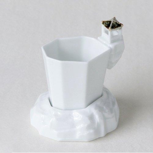 Porcelaine Blanche Infusion Thé Vert Asie Infuseur + Coupelle PAVILLON COREEN