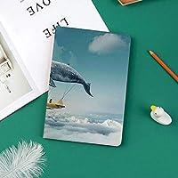 Ipad Pro 11 ケース(2018モデル) 軽量 薄型2つ折スタンド オートスリープ機能付き 全面保護 2018秋発売のiPad Pro 11に対応 スマートカバー夢の飛行船妖精ファンタジー雲上Cloudscapeクジラ地球惑星装飾