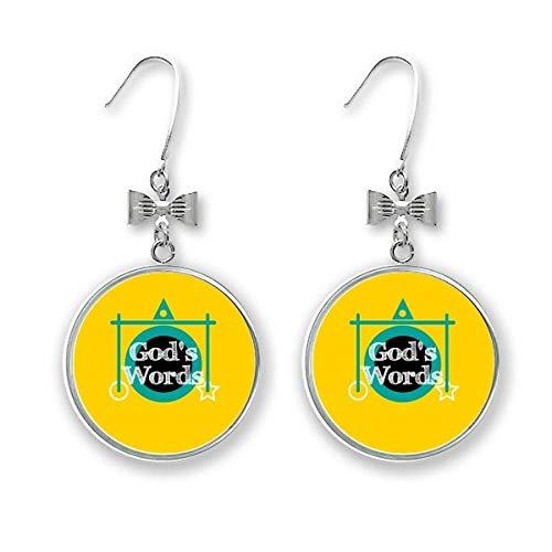 Boucles d'oreilles pendantes pour Dieu de Pâques - Cadeau Art déco - Mode - Avec nœud