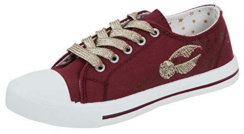 Zapatillas de lona para niñas de Harry Potter, color Rojo, talla 31 EU