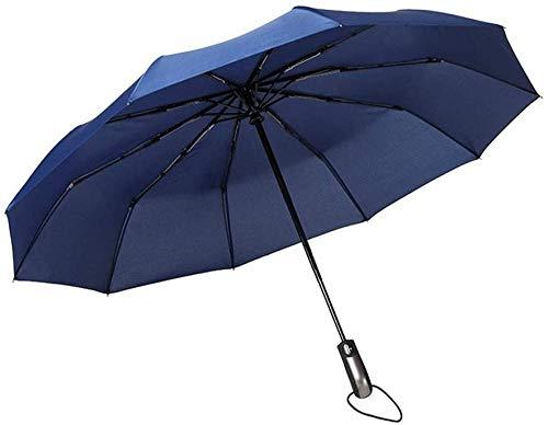 Automatischer Klappschirm Große Markise Ergonomischer Griff Winddichter, Haltbarer Sonnenschutz Regenschutz-frei_blau Regenschirm Sturmsicher Lightweight Wunderschönen Rutschsicherem Premium Qualität