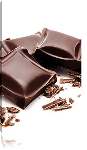 chocolade chocoladespaandersFoto Canvas | Maat: 80x60 cm | Wanddecoraties | Kunstdruk | Volledig gemonteerd