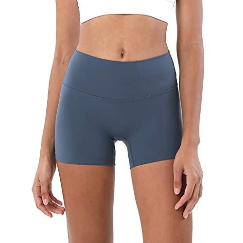 Lnrueg Mujeres Biker Shorts Elástico Color Sólido Bodycon Yoga Shorts Butt Lifting Shorts Athletic Entersout Running Gym Entrenamiento
