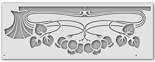 Wandschablone Beeren-Jugendstil (80 x 30 cm)