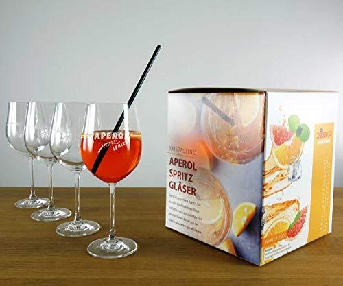 JOSKA Aperol Gläser im 4er Set im exklusiven Geschenkkarton