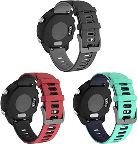 Gransho Repuesto de Correa de Reloj de Silicona Compatible con Withings Steel HR Sport 40mm / Steel HR 40mm / ScanWatch 42mm, Caucho Fácil de Abrochar para Relojes y Smartwatch (20mm, 3-Pack H)