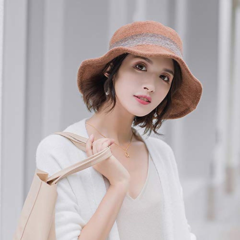 失態ましい村日本の漁師帽の女性は秋冬に韓国風版のウールですレトロな帽子の女性はカジュアルで保温性のある帽子を百掛けのたらい帽をかぶっています