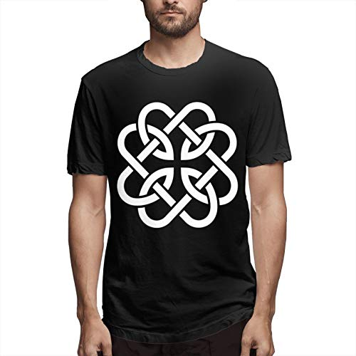 Celtic Knot Fatherhood T-Shirt Short Sleeve Logo Men's Graphic Novelty Cool Designs Fathers Day Tee Black