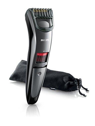 Philips QT4015/16 - Barbero sin cable Serie 3000 para barba de dos días, con cuchillas de titanio, 20 posiciones de corte y funda de transporte