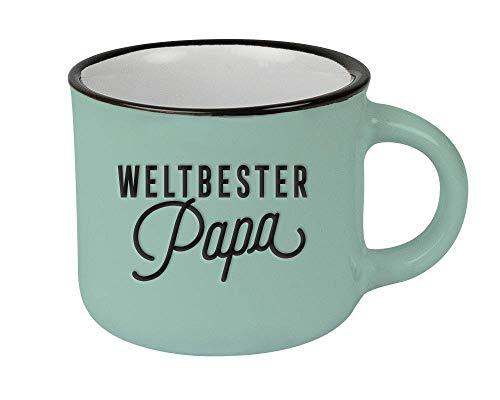 Espressotasse vintage| Mini Keramik Becher zum verschenken | 95 ml | Weltbester Papa