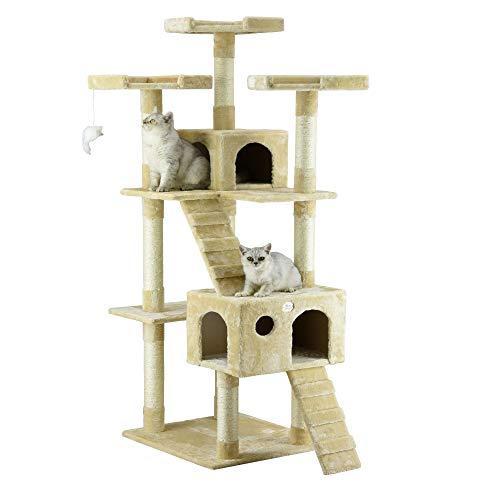 Go Pet Club 72' Cat Tree Condo Furniture - BeigeCat Tree Furniture