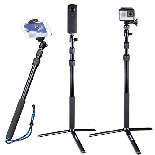 Smatree Telescoping Selfie Stick Compatible for GoPro Max/Hero 10/9/8/7/6/5/4/3+/3/Session/GOPRO Hero(2018)/Ricoh Theta S/V/Samsung Gear360/YI 4K
