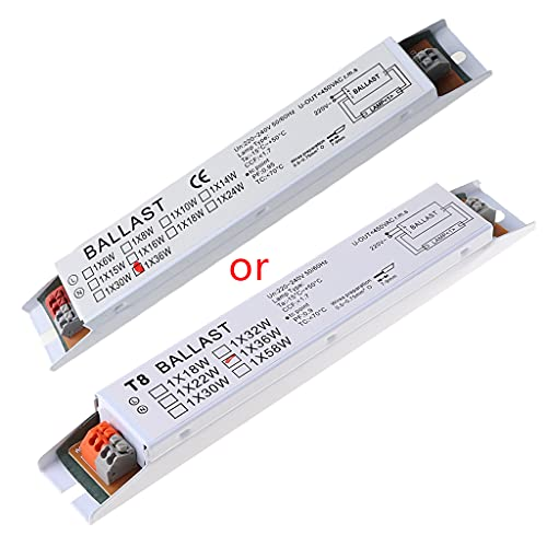 ERUYN Balasto electrónico 220-240V AC 36W de Voltaje Ancho T8 Balastos electrónicos para lámpara Fluorescente