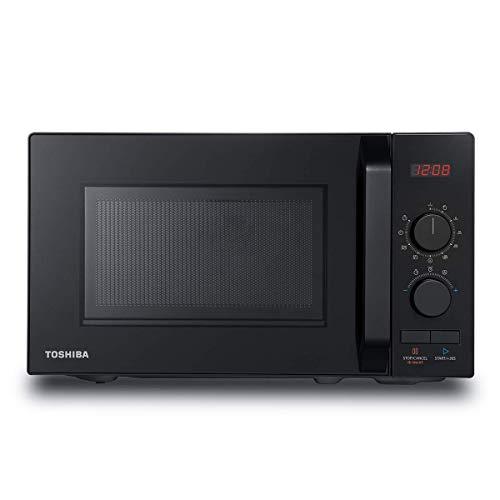 Toshiba Horno de microondas de 800 W 20 L con 8 menús automáticos, 5 niveles de potencia, función silenciosa y luz LED de cavidad – negro – MW2-AM20PF(BK), exclusivo de Amazon