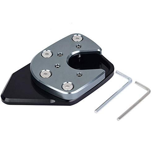 Motorrad Fuß Seitenständer Verlängerung Kickstand Pad Platte Anti-Rutsch Kickstand Pad für NC750X/X-ADV 17-19(Grey)