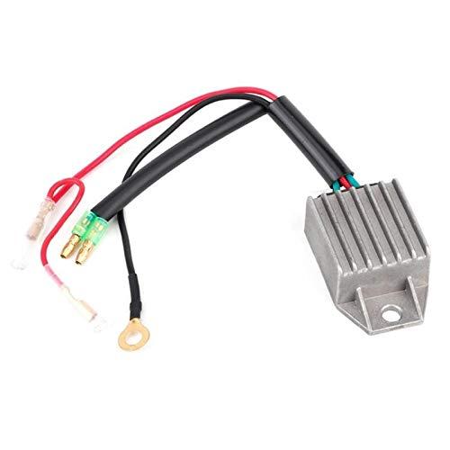 Ymhan Rectificador de Voltaje de aleación de Aluminio rectificador para 2 Accidentes automovilísticos para automóviles fueraborda 15HP