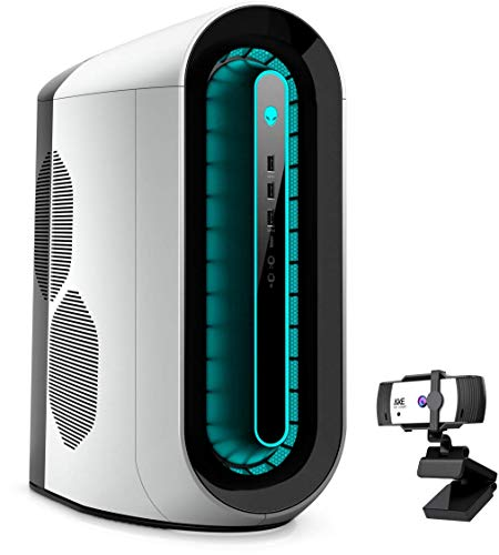 Alienware R11 Gaming Desktop, Intel Core i7-10700F, NVIDIA GeForce RTX 2060, 64GB DDR4 Memory, 1TB PCIe Solid State Drive + 8TB HDD, WiFi, HDMI, KKE 1080P Webcam, White/Lunar Light