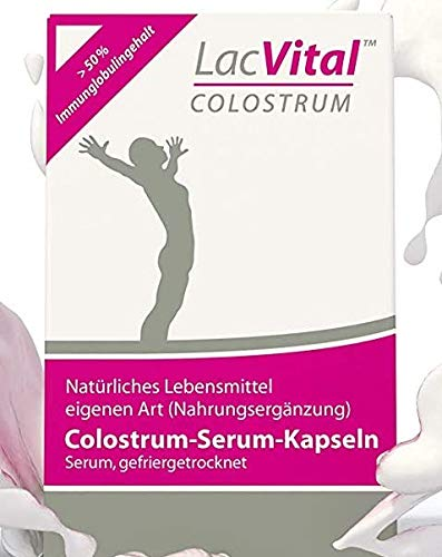 LacVital Colostrum Kapseln 60 Stück Biestmilch Kuh-Colostrum Pulver Made in Germany