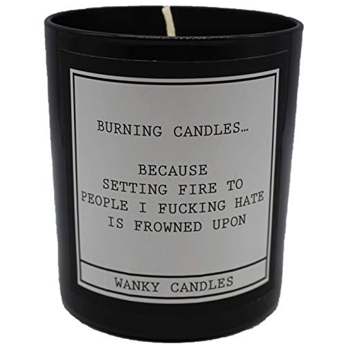 Wanky Candle Novelty Birthday Gift Rude Funny Burning Candeles Because Burning People WCBJ19
