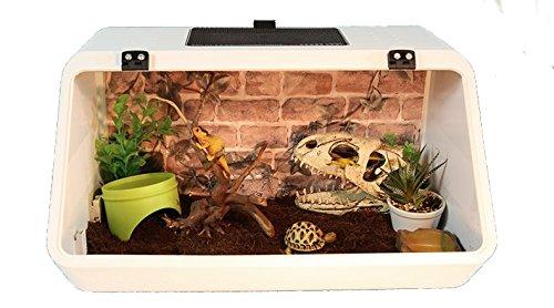 Nomo Reptile Turtle Tank Schildkröte, abgeschrägt, Weiß