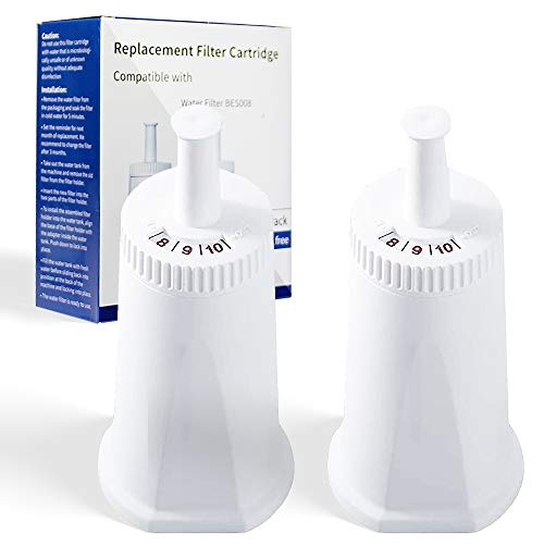 CoreReplace 2 Pack of Replacement Water Filter for Breville Claro Swiss Espresso Coffee Machine - Compare to Part #BES008WHT0NUC1