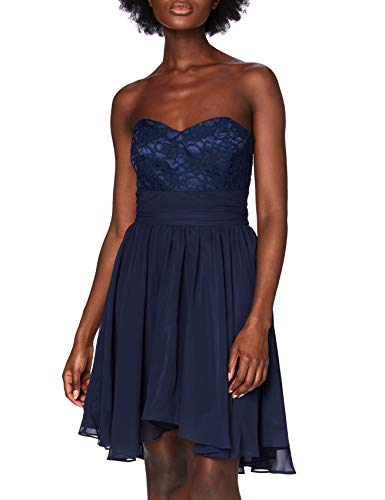 Swing Damen Kleid Maria, Blau (ultramarin 320), 36