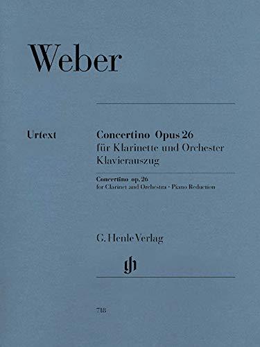 Concertino Es-Dur Op 26 Klar Orch. Klarinette, Klavier