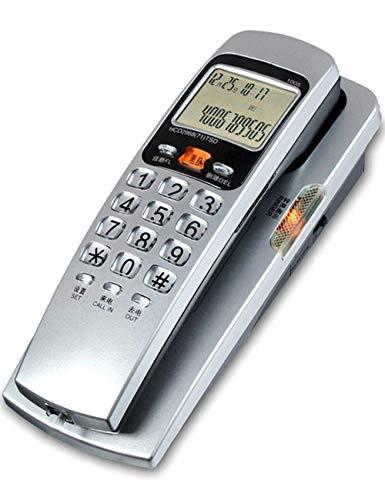 Teléfono de pared pequeño, teléfono con cable estilo góndola, teléfonos fijos con cable fijo, oficina en casa, identificación de llamadas entrantes del hotel, teléfono fijo de moda para la cocina del