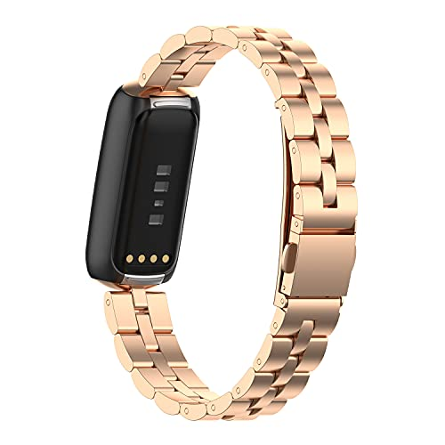 Compatible con Fitbit Luxe Bands, correa de acero inoxidable, pulsera ajustable para Fitbit Luxe Fitness y Wellness Tracker,