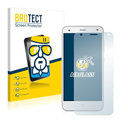 BROTECT Panzerglas Schutzfolie kompatibel mit ZTE Blade S6 - AirGlass, 9H Härte, Anti-Fingerprint, HD-Clear
