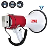 Pyle Megaphone Speaker PA Bullhorn with Built-in Siren - 50 Watts Adjustable Volume...