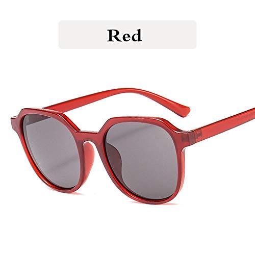 Sonnenbrille Kunststoff Sonnenbrille Frauen Luxus Vintage Männer Klassische Sonnenbrille Damen Sonnenbrille Sonnenschutz Sonnenbrille-rot